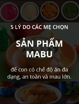 5 lý do mẹ chọn thực phẩm ăn dặm Mabu