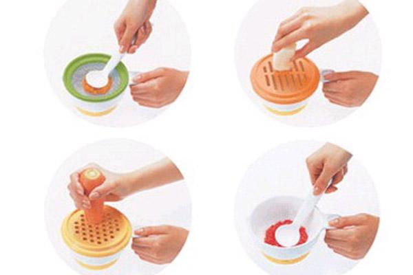 Dụng cụ chế biến đồ ăn dặm kiểu Nhật cho bé