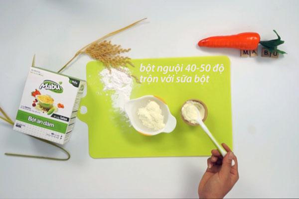 cách nấu bột sữa cho bé